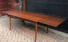 "Load image into Gallery viewer, REFINISHED Danish MCM Teak Draw Leaf Table by H. Kjaernulf 55""-97"", PERFECT, treated for durability - Mid Century Modern Toronto"