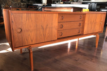 "Load image into Gallery viewer, Danish MCM Teak TV Records Media Console 63""LOW profile, perfect - Mid Century Modern Toronto"