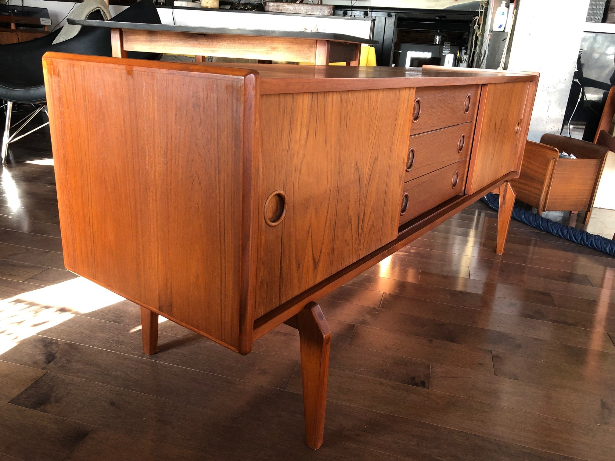 Small Danish Credenza : Small danish rosewood credenza sold white trash nyc