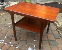 Load image into Gallery viewer, REFINISHED Danish Mid Century Modern Teak Coffee Table & Side Table with shelves, perfect - Mid Century Modern Toronto