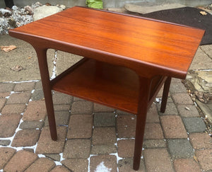 REFINISHED Danish Mid Century Modern Teak Coffee Table & Side Table with shelves, perfect - Mid Century Modern Toronto