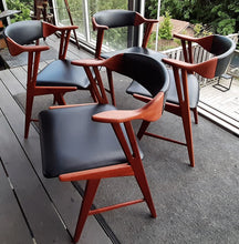 Load image into Gallery viewer, ON HOLD ****4 REFINISHED MCM Teak Armchairs by Kai Kristiansen for Korup Stolefabrik , PERFECT - Mid Century Modern Toronto