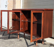 "Load image into Gallery viewer, RESTORED Danish Modern Rosewood Bookcase Display 50"" with lighting PERFECT - Mid Century Modern Toronto"