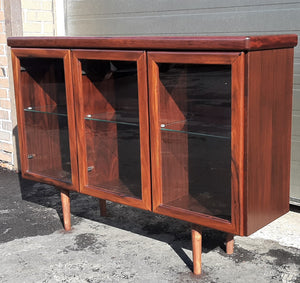 "RESTORED Danish Modern Rosewood Bookcase Display 50"" with lighting PERFECT - Mid Century Modern Toronto"