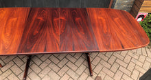 "Load image into Gallery viewer, REFINISHED Large Danish MCM Rosewood Table 2 Leaves 65-108.5"" PERFECT, treated for durability - Mid Century Modern Toronto"