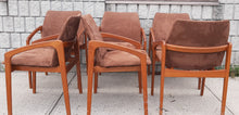 Load image into Gallery viewer, 6 Danish MCM Teak Angled Armchairs by Kai Kristiansen RESTORED, each chair $279 - Mid Century Modern Toronto