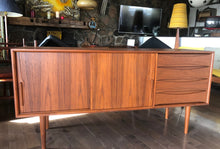"Load image into Gallery viewer, ON HOLD for Steve L.--Danish MCM Teak Sideboard TV Console 63"" - Mid Century Modern Toronto"
