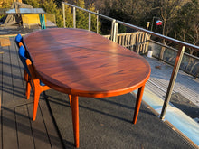 "Load image into Gallery viewer, REFINISHED Danish MCM Teak Table Round to Oval with 2 Leaves by Vejle Stole Mobelfabrik 46.5"" - 86"" - Mid Century Modern Toronto"