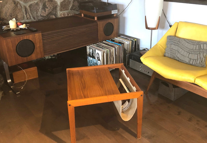 REFINISHED MCM Teak Accent/ Magazine Table by Bent Silberg, perfect - Mid Century Modern Toronto