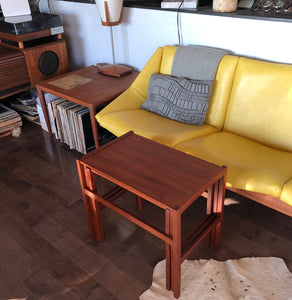 REFINISHED Danish Mid Century Modern set of 3 teak nesting tables, perfect - Mid Century Modern Toronto
