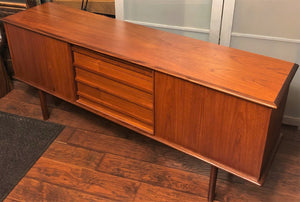 "REFINISHED Danish MCM Teak Sideboard TV Media Console 74""perfect - Mid Century Modern Toronto"