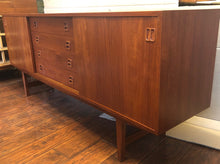 "Load image into Gallery viewer, REFINISHED Danish MCM Teak Credenza Sideboard 77"" - Mid Century Modern Toronto"
