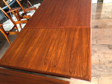 "Load image into Gallery viewer, REFINISHED Danish MCM Teak Draw Leaf Table 55""-98"" - Mid Century Modern Toronto"