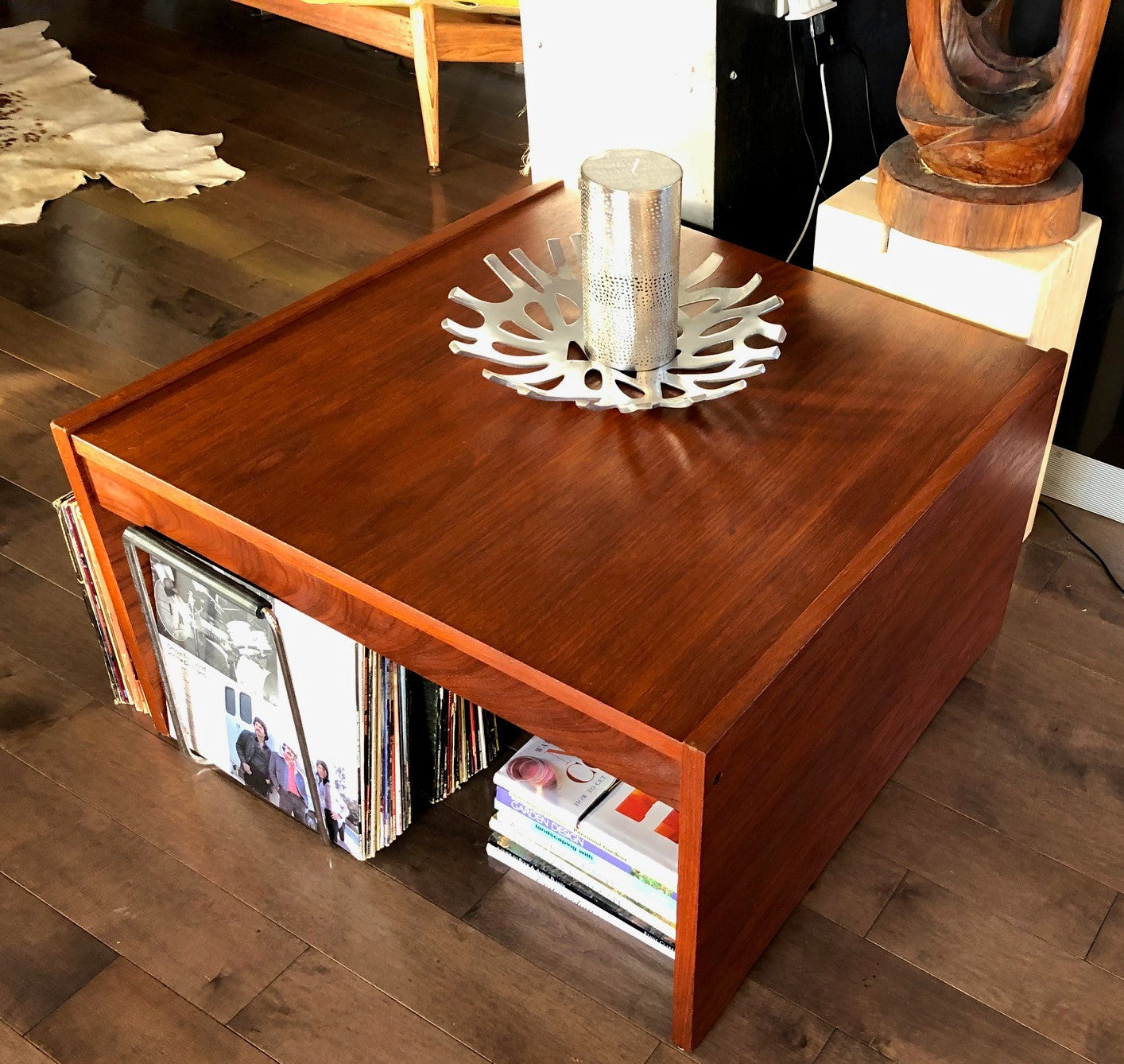 REFINISHED Danish MCM Teak Accent or Coffee Table large ...