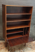 "Load image into Gallery viewer, RESTORED Danish MCM Rosewood Bar Display Bookcase, narrow 34"", perfect - Mid Century Modern Toronto"