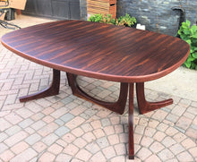 "Load image into Gallery viewer, ON HOLD REFINISHED Large Danish MCM Brazilian Rosewood Table w 2 Leaves 70""-117""PERFECT, treated for durability - Mid Century Modern Toronto"