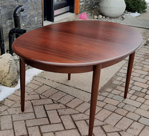 "Danish MCM Rosewood Table Oval w 2 leaves 58""-96"" by GUDME, MINT - Mid Century Modern Toronto"