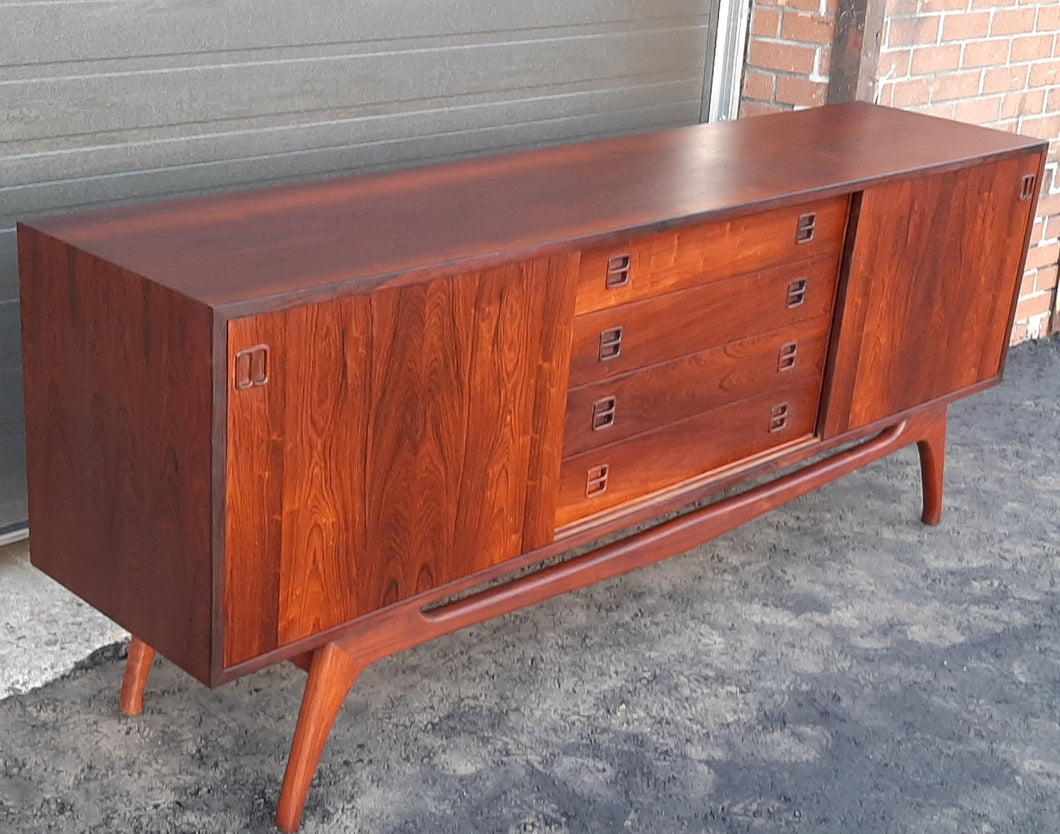 REFINISHED rare Danish MCM Brazilian Rosewood Sideboard Credenza, perfect, 77
