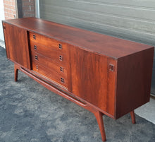"Load image into Gallery viewer, REFINISHED rare Danish MCM Brazilian Rosewood Sideboard Credenza, perfect, 77"" - Mid Century Modern Toronto"