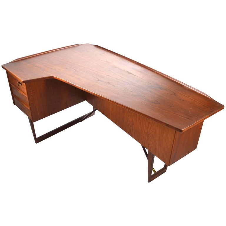 ON HOLD***REFINISHED Danish MCM  Boomerang Teak Desk by Peter Løvig PERFECT - Mid Century Modern Toronto
