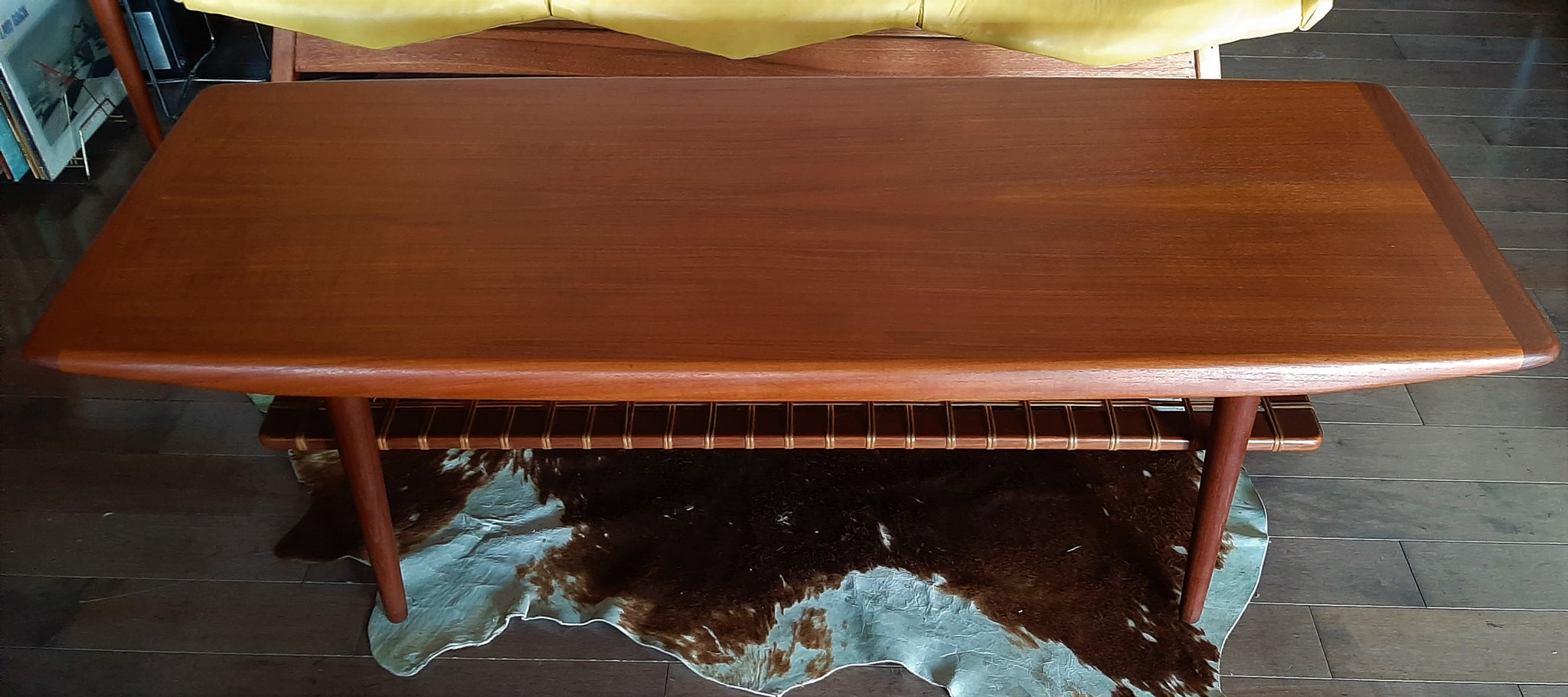 REFINISHED Danish MCM Teak Coffee Table Surfboard with ...