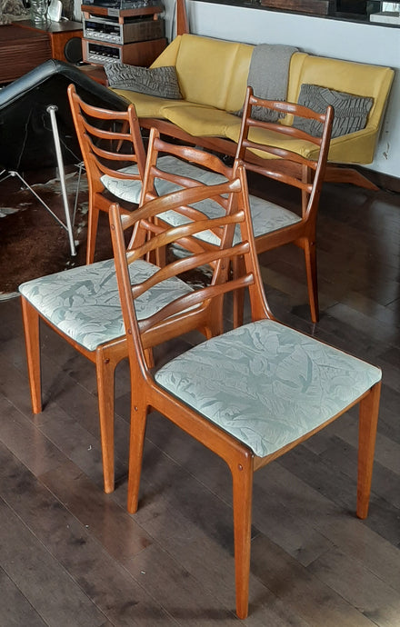 4 Danish MCM Teak Chairs  RESTORED, perfect, each $249 only - Mid Century Modern Toronto
