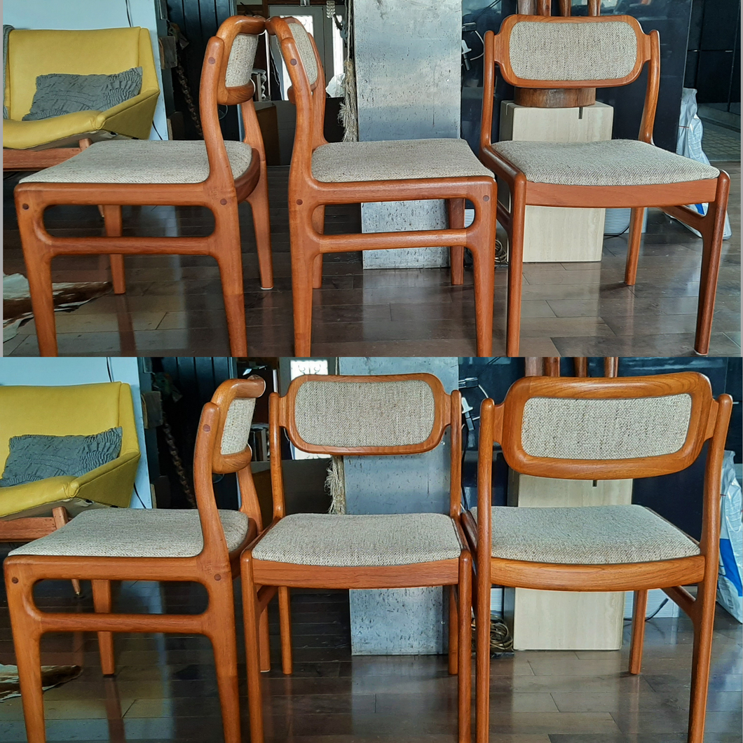 6 Rare Danish Mcm Teak Chairs By Johannes Andersen