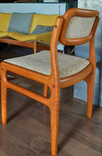 Load image into Gallery viewer, 6 Rare Danish MCM Teak Chairs by Johannes Andersen Restored, PERFECT, each $359 - Mid Century Modern Toronto