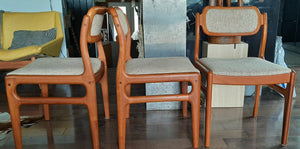 6 Rare Danish MCM Teak Chairs by Johannes Andersen Restored, PERFECT, each $359 - Mid Century Modern Toronto