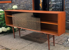 "Load image into Gallery viewer, REFINISHED Danish Modern Teak Bookcase Display 71"" with tinted glass doors PERFECT - Mid Century Modern Toronto"
