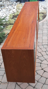 "REFINISHED Danish Modern Teak Bookcase Display w sliding glass doors 79"" PERFECT - Mid Century Modern Toronto"
