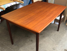 "Load image into Gallery viewer, ON HOLD for Nancy K. REFINISHED Compact Danish MCM Teak Draw Leaf Table 48""-84"" PERFECT, treated for durability - Mid Century Modern Toronto"