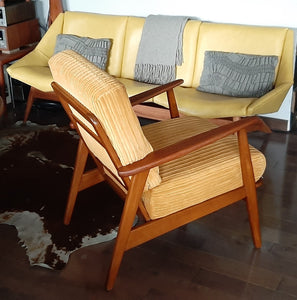 REFINISHED Danish MCM Teak Lounge Armchair, like new - Mid Century Modern Toronto