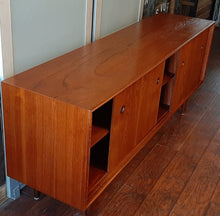 Load image into Gallery viewer, REFINISHED Danish MCM Teak Sideboard TV Media Console 6 ft, perfect - Mid Century Modern Toronto