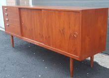 "Load image into Gallery viewer, REFINISHED Danish Mid-Century Modern Teak Sideboard Buffet 71"" perfect - Mid Century Modern Toronto"