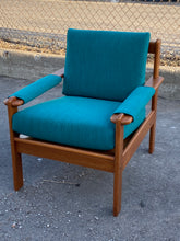 Load image into Gallery viewer, REFINISHED REUPHOLSTERED MCM Teak Sofa and 3 Armchairs