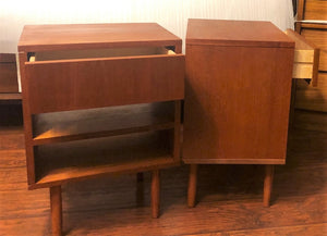 REFINISHED MCM Teak night stands or end tables, compact , PERFECT - Mid Century Modern Toronto