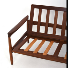"Load image into Gallery viewer, Will be REFINISHED Swedish MCM ""Kolding"" Teak Sofa by  Erik Worts"