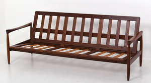 "Will be REFINISHED Swedish MCM ""Kolding"" Teak Sofa by  Erik Worts"
