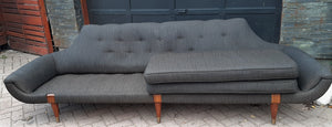 "Roche Bobois Large Sofa Gondola style 104"" Low Slung- SUPER SALE"