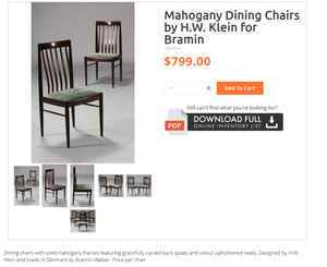 8 Danish MCM Mahogany Chairs by H.W. Klein for Bramin RESTORED; very comfortable, each $225