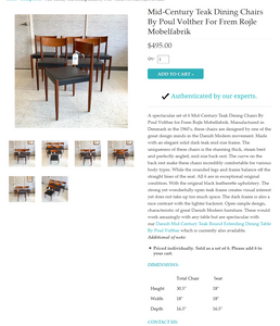 4 Poul Volther for Frem Rojle Danish MCM Teak Chairs REFINISHED REUPHOLSTERED, perfect, like new