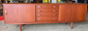 "ON HOLD***REFINISHED Danish MCM Teak Sideboard by Clausen & Son, PERFECT, 82"" - Mid Century Modern Toronto"
