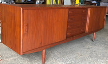 "Load image into Gallery viewer, ON HOLD***REFINISHED Danish MCM Teak Sideboard by Clausen & Son, PERFECT, 82"" - Mid Century Modern Toronto"