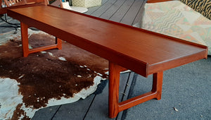 "REFINISHED MCM Torbjørn Afdal for Bruksbo ""Krobo"" Teak Coffee Table or Bench"
