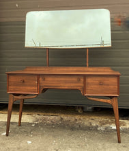 Load image into Gallery viewer, REFINISHED British MCM Vanity & Mirror or Desk by Alfred Cox, Perfect, Compact