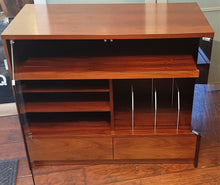 Load image into Gallery viewer, RESTORED MCM Rosewood Media Records TV Console with tinted glass doors