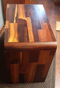 "REFINISHED MCM Rosewood Patchwork Cabinet with 2 drawers 28"", perfect, 2 AVAILABLE"