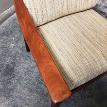 Load image into Gallery viewer, Set of 2 RESTORED REUPHOLSTERED MCM High Back Lounge Chairs by Casala in Maharam Paul Smith stripe