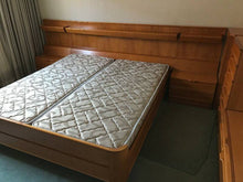 Load image into Gallery viewer, RESTORED MCM bedroom set:  platform bed w nighstands, slats & matresses and dressers, made in Germany, perfect